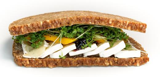 Smörgås med grovt rågbröd