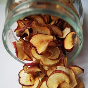 hemmagjorda äpplechips