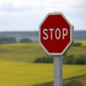 stoppskylt