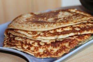 Pannkakor gjorda med Fiberhusk